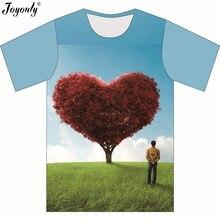 Joyonly 2018 Summer New Fashion Children 3D T-shirt Lovely Tree Green Weed Blue  Sky Printing T shirt Boys Girl Casual Tees Tops 41717f74b570