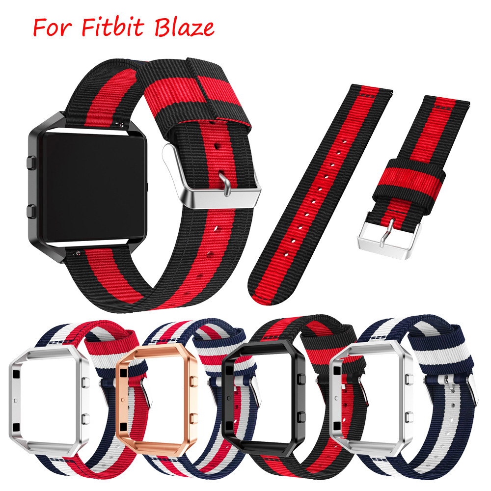 Fine Woven Nylon Adjustable Replacement Band Sport Strap + Case Cover for Fitbit Blaze Watch Easyfit WristBand dignity D7 watchband strap for xiaomi mi band 2 bracelet easy fit replacement band silicone easyfit wristband 170 220mm dignity d7