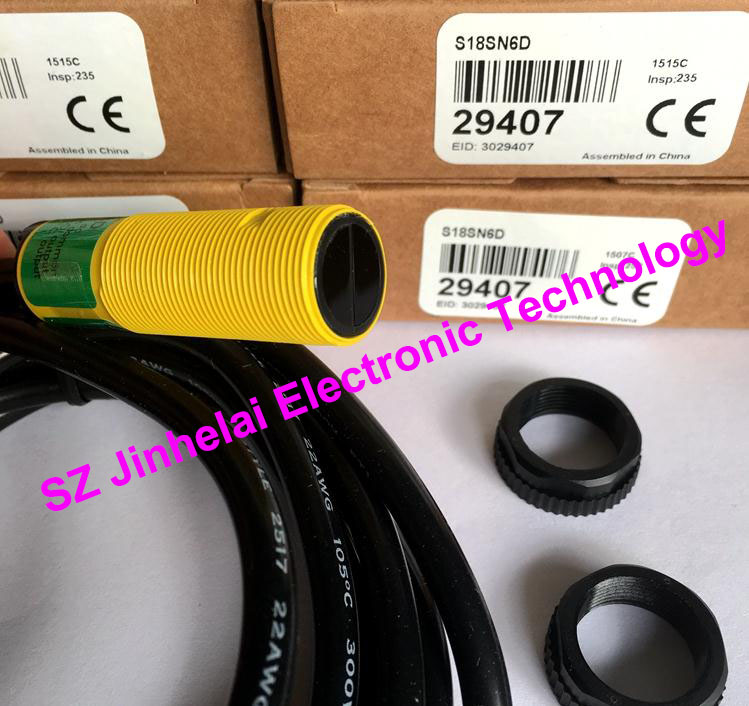 S18SN6D  New and original BANNER  Photoelectric switch, Photoelectric sensor qs18vn6lp new and original banner photoelectric switch npn