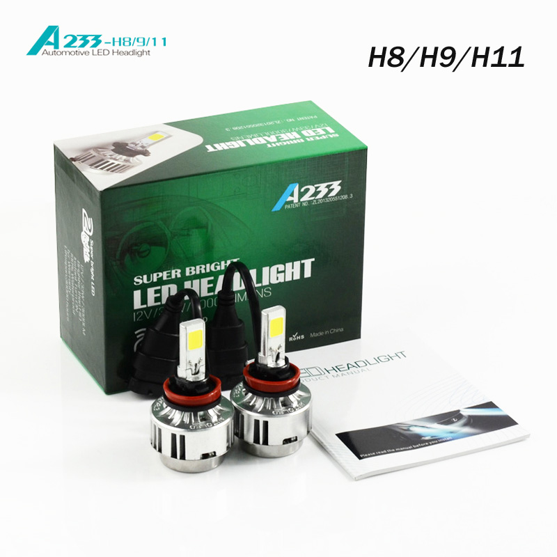 ФОТО 2016 Hot Sale Limited Car Headlight H8 / H9 H11 H7 Hb3 Hb4 9005/9006 H1 Bulb Before Auto 66 W/ 6000lm Flagship Cars 6000k 4300k