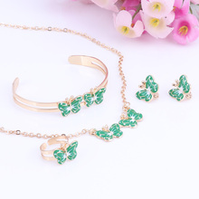 Gold Color Lovely Butterfly Children Jewelry Sets