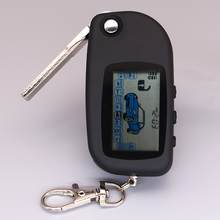 A6 uncut case with A6 key fob keychain remote controller for starline A6 two way auto car