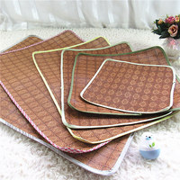 Hot Sale 8 Size Pet Summer Dog Bed Rattan Mats Folding Breathable For Small Medium Large