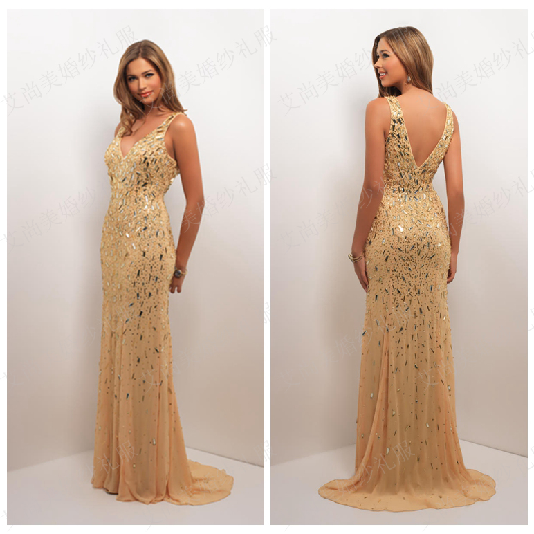 Black and gold studded prom dress – Dress ideas