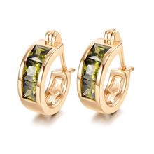 MxGxFam золотой цвет 18 k квадратные серьги-кольца для женщин модные ювелирные изделия AAA+ кубический циркон хорошее качество