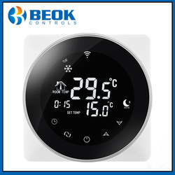 Beok TGR87 termostato eléctrico inteligente WiFi, calefacción de suelo, controlador de temperatura 16A, termostato de pantalla táctil