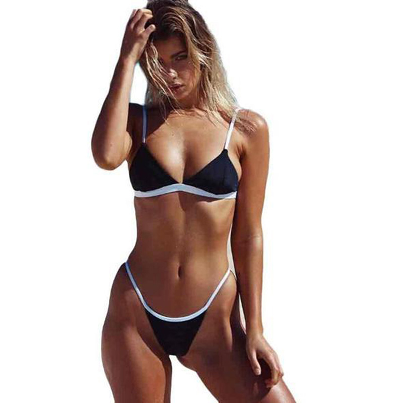 Women Swimwear Sexy Brazilian Bikini Set Women Solid High Cut Bathing Suit Summer Beach Wear Female Low Waist Red Swimsuit