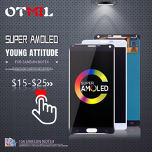 OTMIL 5.7AMOLED For SAMSUNG Galaxy Note 4 LCD DisplayTouch Screen with Frame N910A N910F N910H  #1