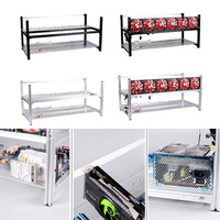 8 GPU Mining Case Frame Aluminum Computer ETH Open Air Stackable Rig for Bitcon Miner Kit EM88