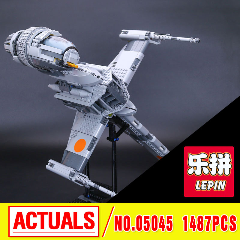 2016 New LEPIN 05045 1487Pcs Star B- Starfighter Wing  Model Building Kits  Bricks Compatible Toys Gift 10277 Funny Toy War lepin 05040 star wars y wing attack starfighter model building kits blocks brick toys compatiable with lego kid gift set