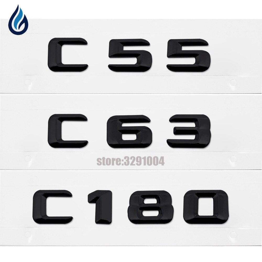 Chrome Number Letters Trunk Badges Emblem Emblems for Mercedes Benz C55 AMG