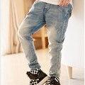 Ropa para niños chicos primavera pantalones del bebé niño pantalones casuales, niños ripped jeans + pantalones vaqueros de los niños + pantalones vaqueros chicos