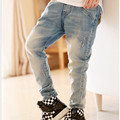 children's clothing boys spring trousers baby child casual jeans, kids ripped jeans+kids jeans+boys jeans