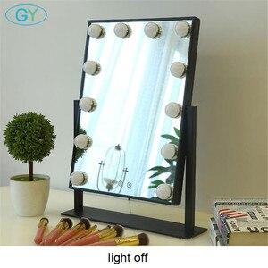 Image 4 - Miroir inclus, lampe de vanité tactile, lampe de table à intensité réglable, hollywood, pour maquillage et table lumineuse