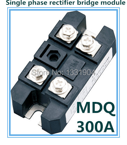 Hot sale 300A Single phase Bridge Rectifier Module MDQ 300 welding type used for DC and rectifying power supply rectifier mdq 200a rectifier bridge single phase rectifier module