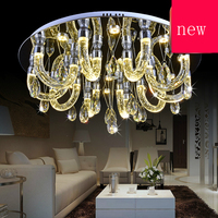 Z Modern LED Crystal Bubble Lamp Restaurant Ceiling Lamp Trichromatic Dimming Energy Saving Living Room Lamp