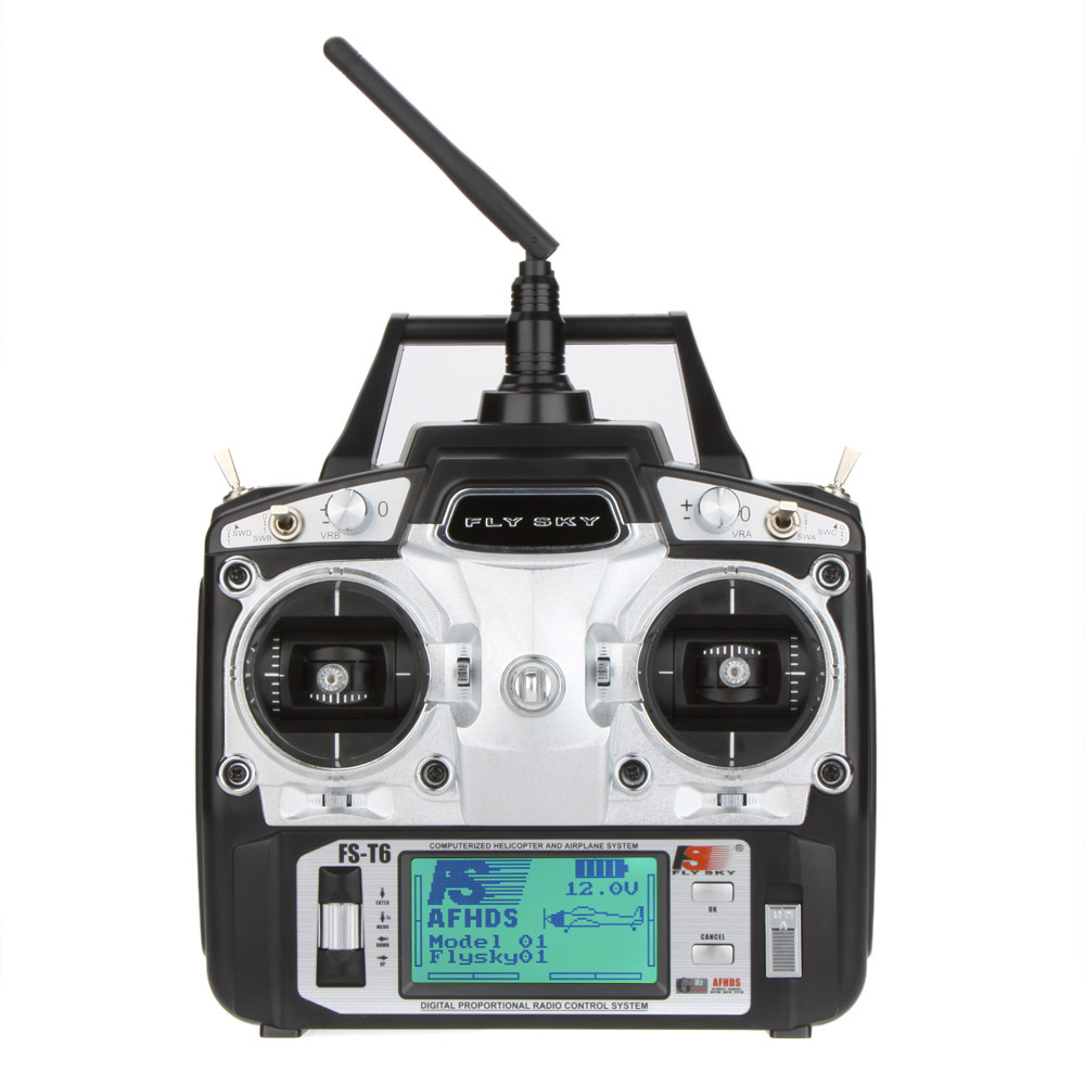 Flysky FS T6 High precision 2 4GHz 6CH Mode 2 Transmitter With RC Receiver R6 B
