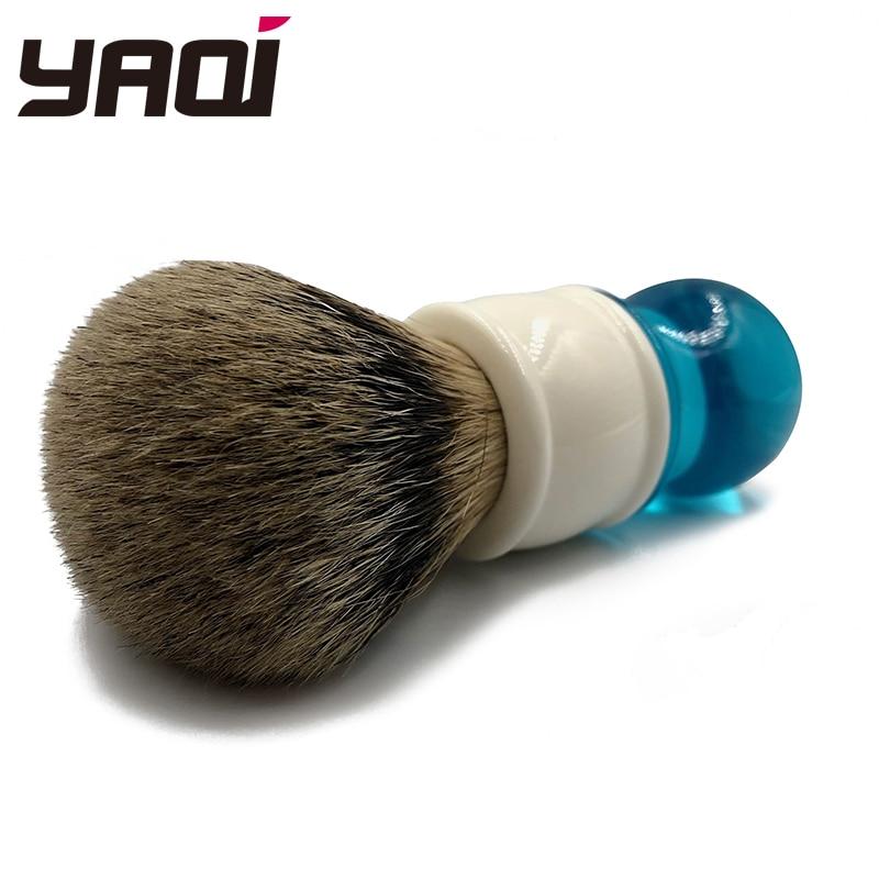 Купить с кэшбэком Yaqi 24mm Aqua Highmountain Silvertip Badger Hair Shaving Brush
