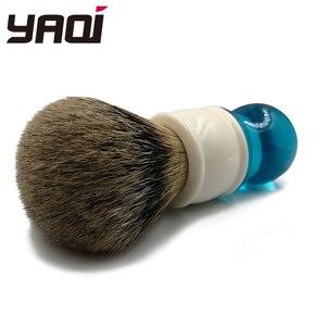 Image 5 - Yaqi brosse de rasage pour cheveux, Aqua Highmountain, blaireau à pointe argentée, 24mm