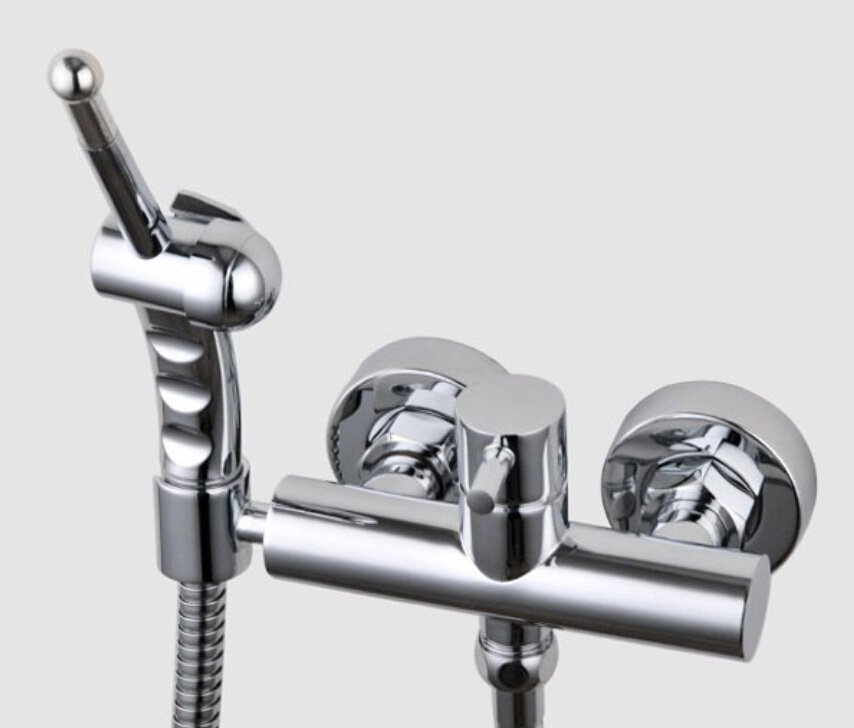 ФОТО Free shipping Cold & Hot water Toilet Bidet Shattaf handheld Shower with Brass bidet faucet mixer valve BD388