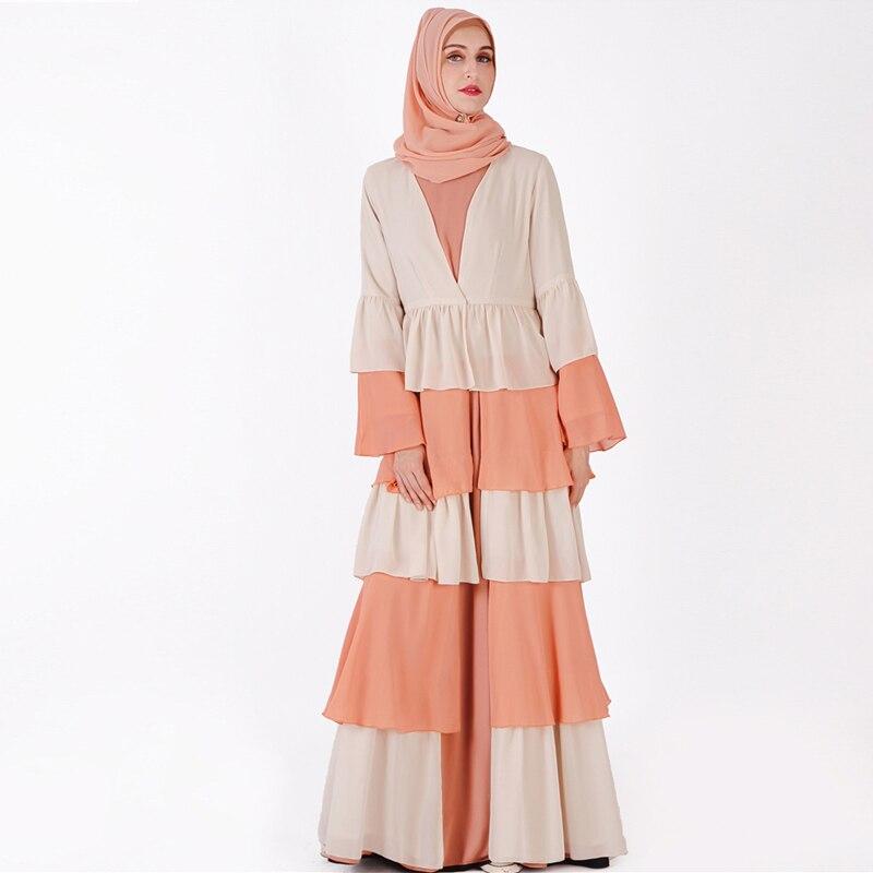 Abaya dubai kaftan hijab muçulmano vestido malásia