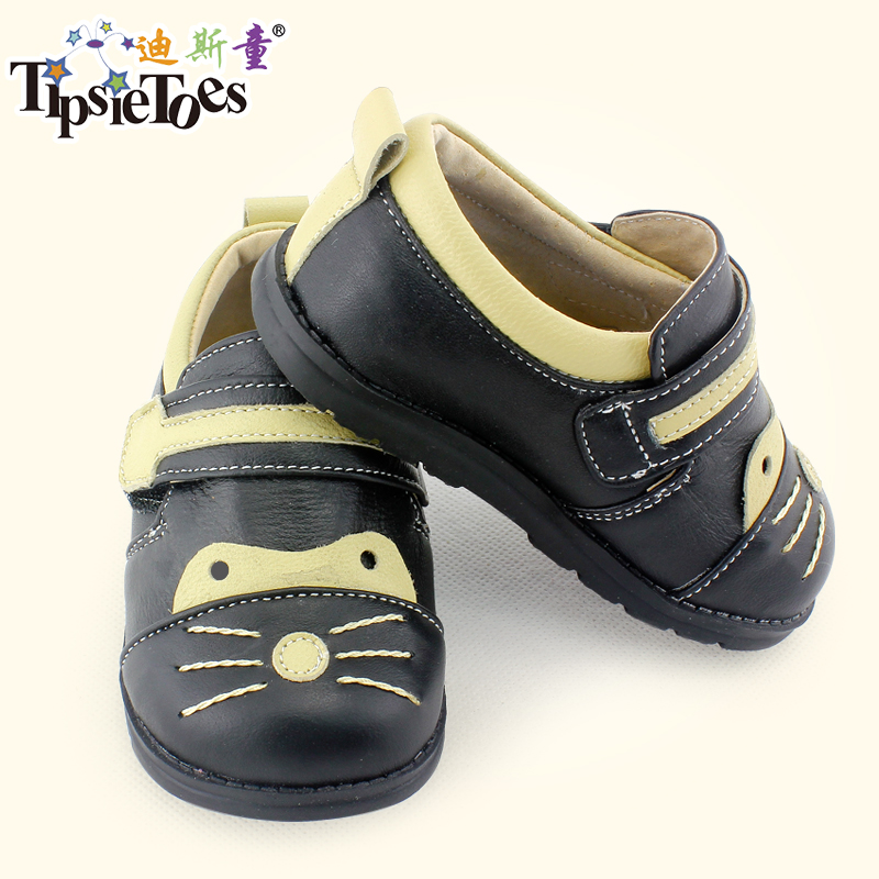 TipsieToes Brand Kitty Sheepskin Leather Kids Children School Sneakers Shoes For Boys And Girls New 2014 Autumn Spring 63103