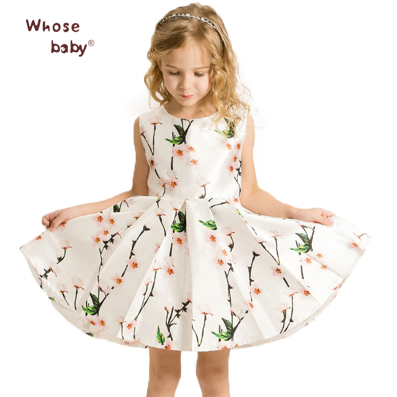 Подробнее о Whosebaby baby Girl Dresses Kids Clothes 2016 Brand Children Costumes for Girls Princess Dress Floral Pattern elsa Girls Dress baby girls dresses brand princess dress girl clothes kids dresses children costumes 3 14 years old