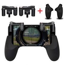 Para o Telefone Móvel Jogo Gamepad Controlador Sensível Atirador Gatilho & Botão de Fogo L1R1 Gaming para PUBG/Facas Out/ regras de Sobrevivência