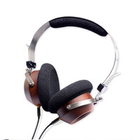 Wood Headphones Retro Headset HIFI Monitor Handmade DIY Fever Headphones