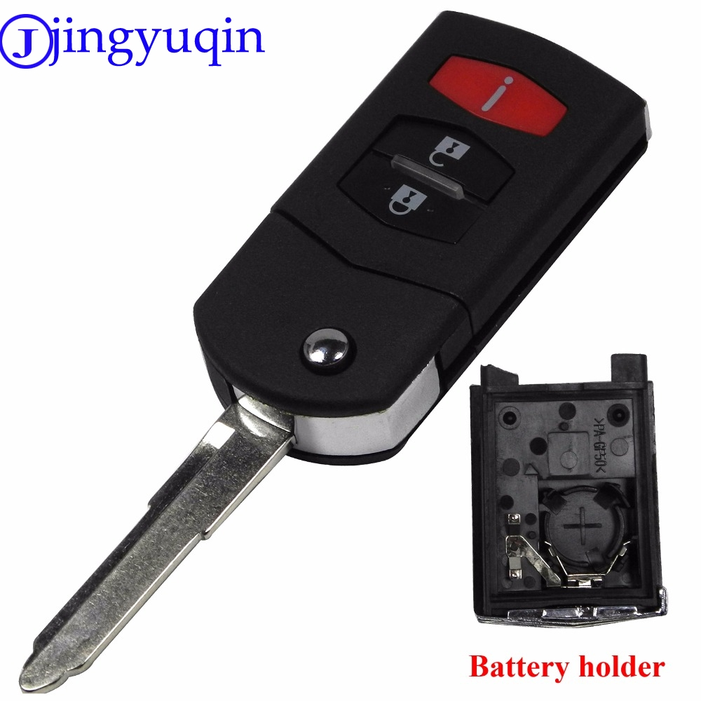 jingyuqin 3 Buttons Flip Folding Remote Key Shell Car Case Fob Cover For Mazda 3 5 6 CX5 CX7 CX9 RX8jingyuqin 3 Buttons Flip Folding Remote Key Shell Car Case Fob Cover For Mazda 3 5 6 CX5 CX7 CX9 RX8