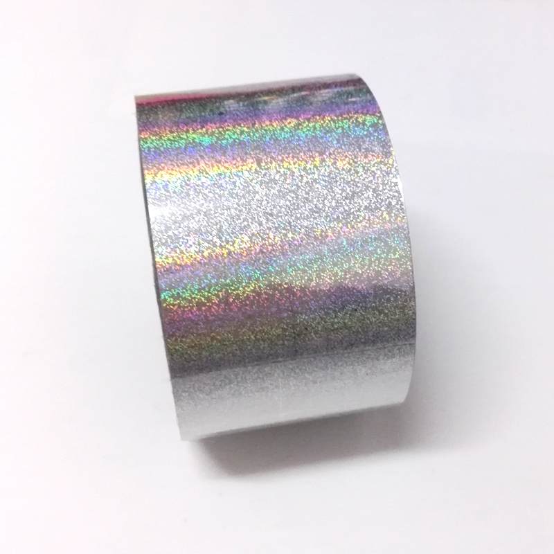 120M*4CM Holographic Nail Art Transfer Foils Stickers 1Roll Sliver Laser Nail Polish Tips Decorations Accessories 1roll 4cm 120m laser rose gold nail transfer foil stickers nails art decorations manicure declas for nails accessories