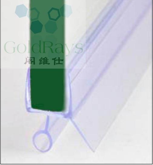 009 6mm glass shower door seal strip clear pvc profile plastic hinge strips shower door seal