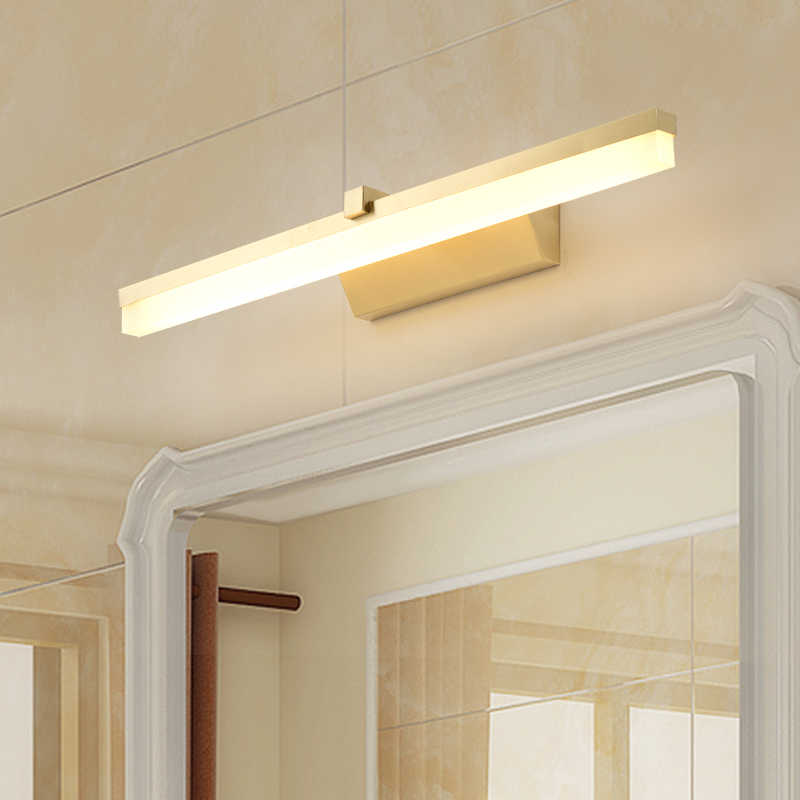 Modern Golden Lampu Dinding LED Lampu Dinding Tembaga Cermin Lampu Ruang Tamu Dinding Sconce Wall Deco Lampu Kuningan Lampu foyer