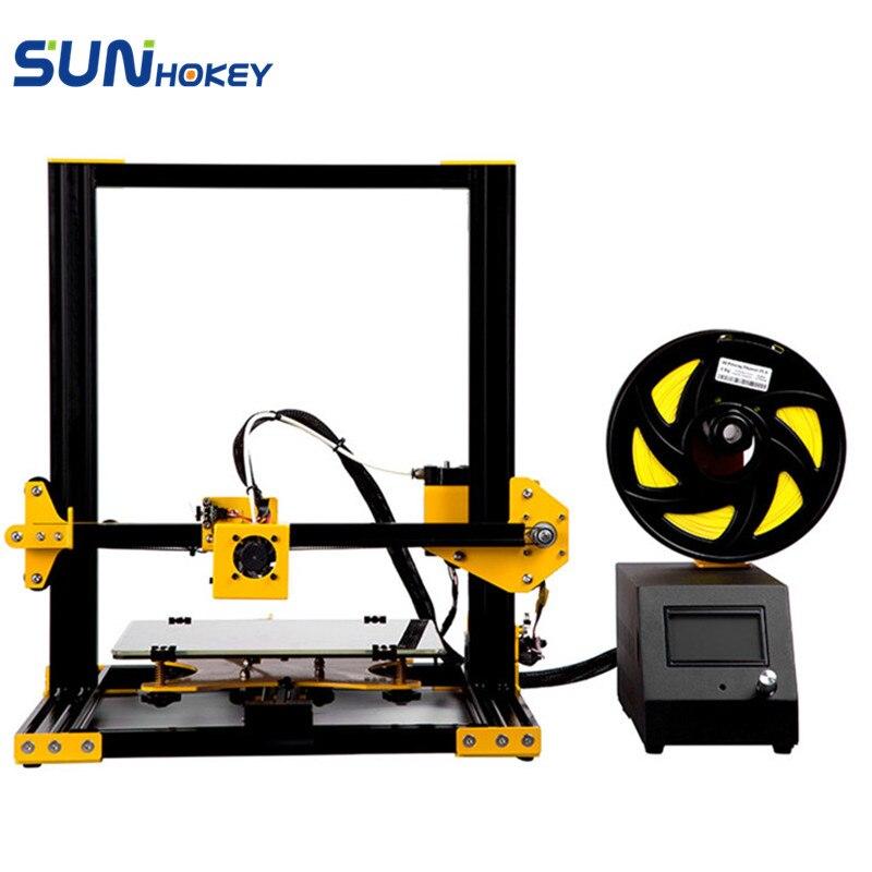 2018 новые 3D-принтеры Sunhokey S1 Полный металлический каркас с широкоформатной печати Размеры Impresora 3d DIY Kit 1 рулона нити 8 г SD карты Бесплатная