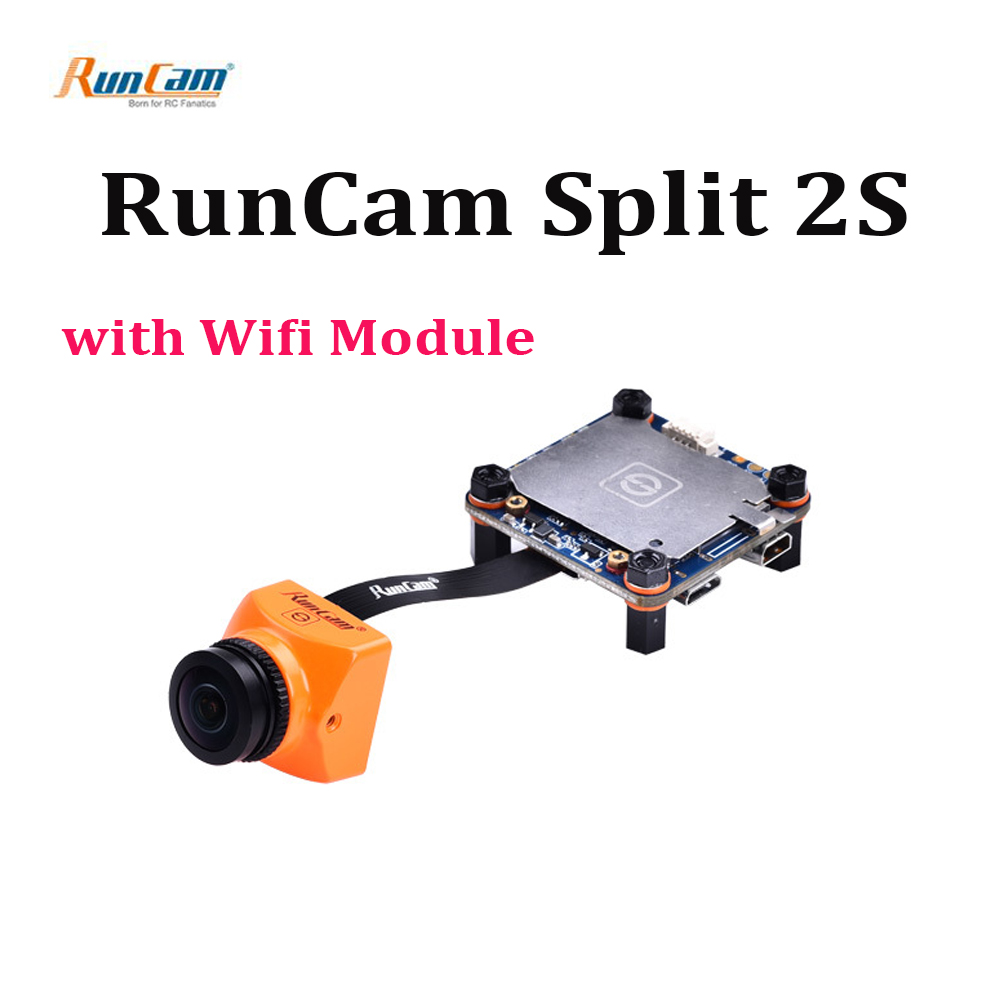 RunCam Split 2S HD recording & WDR 16:9 / 4:3 1080P@60fps FPV mini Camera NTSC/PAL Switchable w/ Wifi module for RC FPV Drone runcam 2 hd 1080p 120 degree wide angle wifi fpv camera ir blocked ntsc pal switchable for fpv racing drone