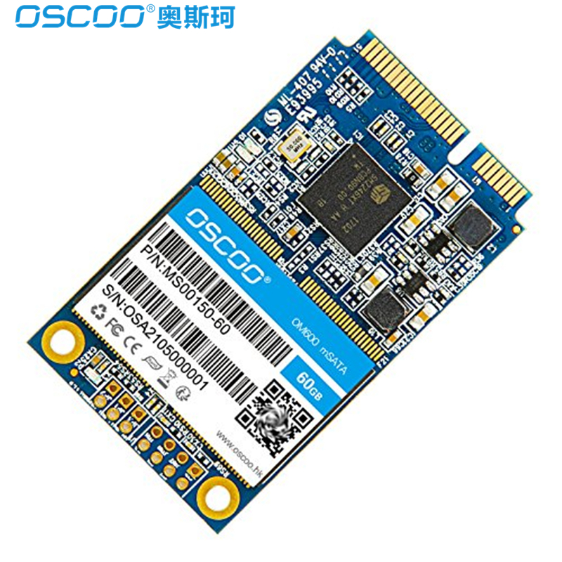 OSCOO MSATA SSD Hard Disk 6Gb/s SSD 60GB 120GB 240GB 480GB Internal Solid State Drive MLC 4mm Hard Disk Drive for PC Laptop SSD