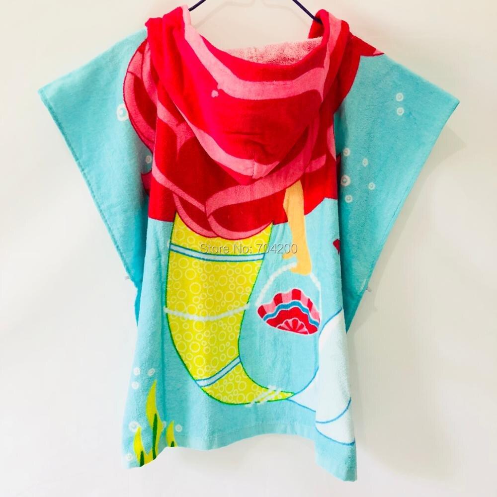 Детские Банные халаты с рисунком сердца розы KT, хлопковый свитер с принтом, накидка, банный халат с капюшоном и рисунком животных