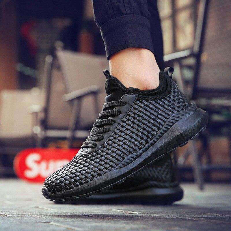 Дышащая повседневная обувь из сетчатого материала; мужские кроссовки на шнуровке; удобная легкая обувь; Мужская обувь унисекс для взрослых;...
