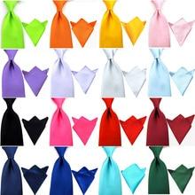 Men Satin 8CM Wide Solid Color Tie Handkerchief