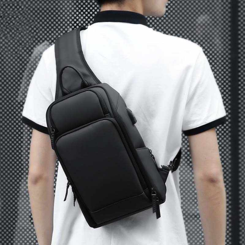 d4dded606 ... OUTWALK Crossbody Bags for Men Messenger Chest Bag Pack Casual Bag  Waterproof Nylon Single Shoulder Strap ...