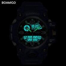 BOAMIGO Brand Men Sports Watches Military LED Digital Analog Wrist Watch man shock Swim Waterproof Blue Clock Relogios Masculino