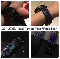 Newest Real Carbon Fiber Watch Band For Huawei Watch 2 Pro Straps For Samsung Gear S3 S2 Gear Sport For Galaxy Watch Watchbands