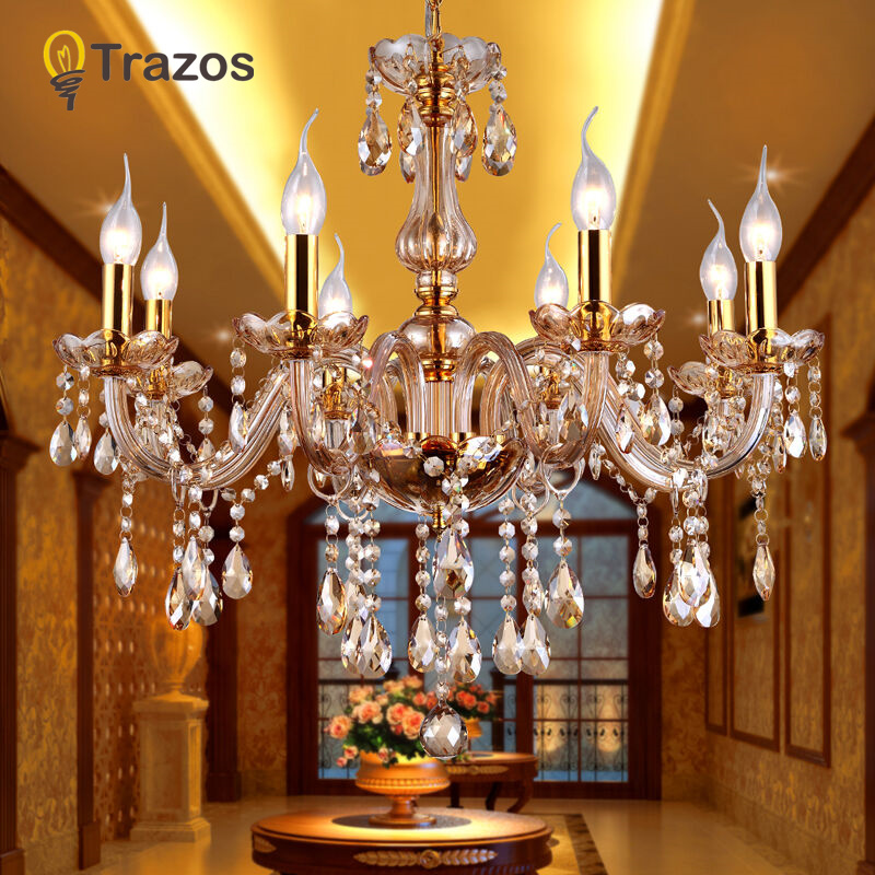 Crystal Ceiling Chandelier Home For Living Dining Room Lamp Indoor Home Decoration Bedroom Lights Crystal LED Lamp led chandeliers for dining room bedroom kitchen white color k9 crystal chandelier light for home decoration lustres para quarto