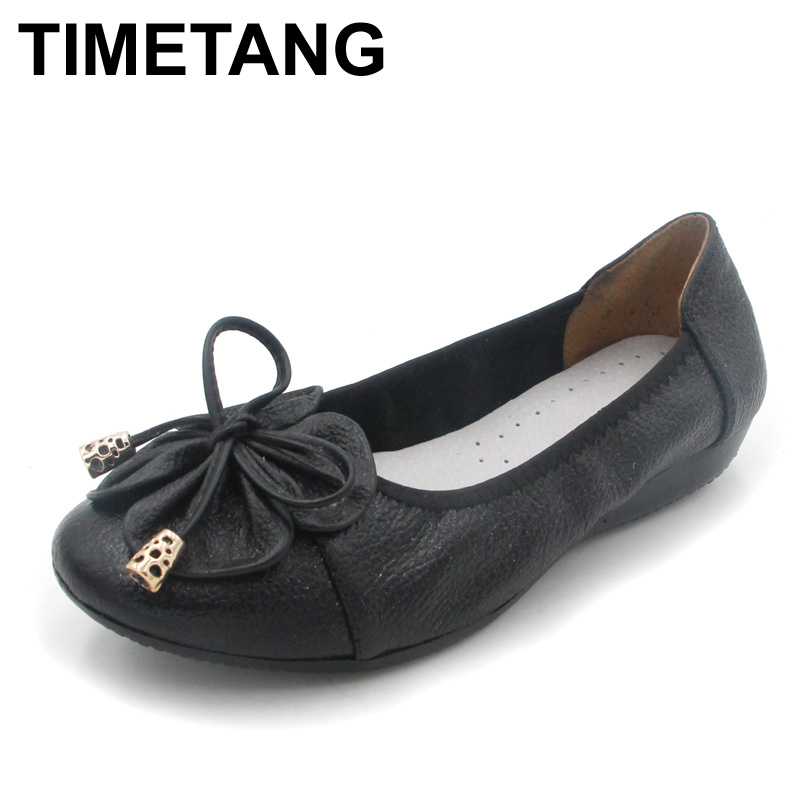 TIMETANG Plus size(35-42) women flats,women genuine leather flat shoes woman loafers newest fashion female casual single shoes de la chance 2018 new fashion women casual shoes adults colorful women s flats shoes woman breathable harajuku flat plus size