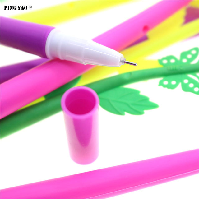 Funny Gr Leaf Flower Pen Blade Beautiful New Creative Stationery Sign Decoration Office Student Neccessity