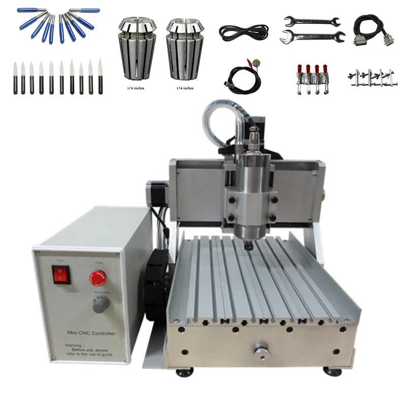 1.5KW <font><b>CNC</b></font> Metal Milling Machine <font><b>3020</b></font> <font><b>CNC</b></font> <font><b>Router</b></font> Engraving Machine with Cutting Bits ER11 Collet Chuck image