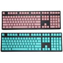 Branco impresso 108 teclas azul rosa oem perfil, grosso chave pbt para usb mechânico de jogos