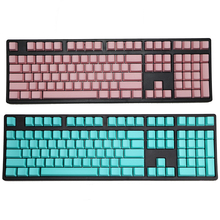blank printed 108 keys Blue Pink OEM Profile Thick pbt keycaps for wried usb mechaniacal gaming keyboard iso keycap