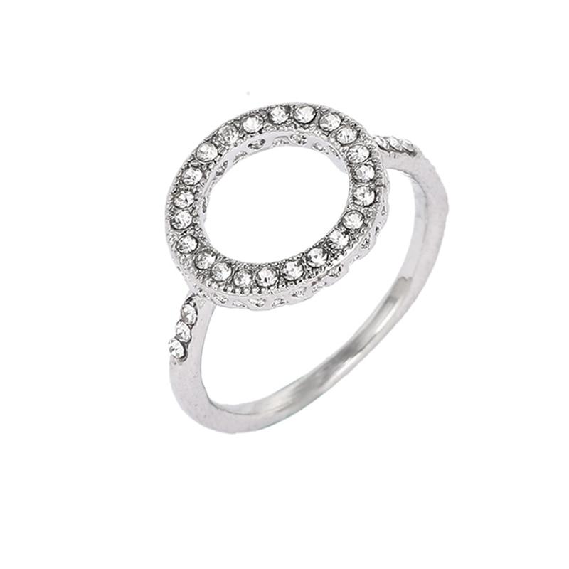 Модные плетеные кольца с кристаллами для женщин, золото/серебро/розовое золото, тонкое женское кольцо, вечерние ювелирные изделия для помолвки - Цвет основного камня: RG018