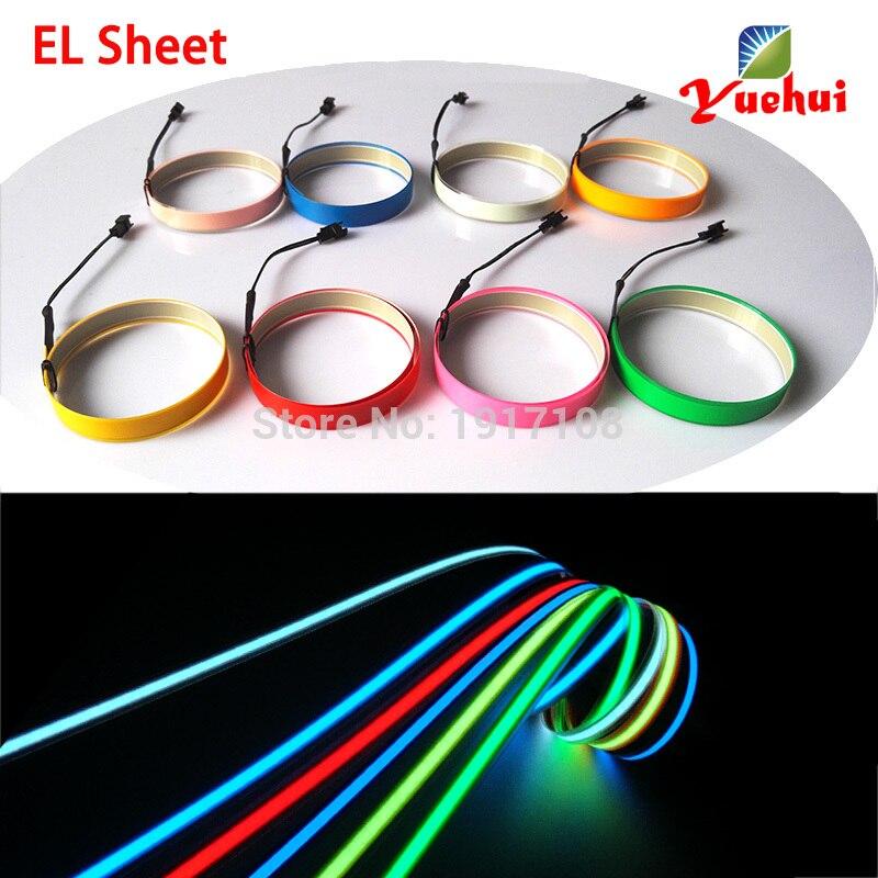 Neue Ankunft 8 Farbe 1,4X100 CM ohne el-treiber EL Band EL draht EL ...